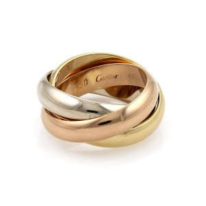 Cartier Ring 18k White Yellow Rose Gold Size 4.5
