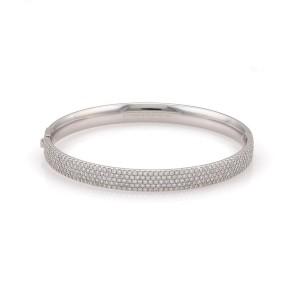 Tiffany & Co. 18K White Gold with 1.93ct Diamond Bracelet