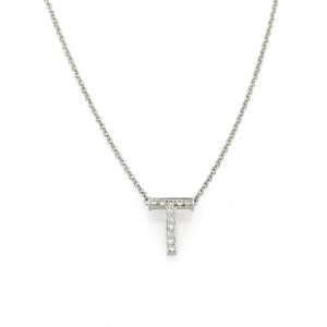 Tiffany & Co. PT950 Platinum with 0.10ct Diamond Pendant Necklace
