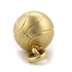 Pomellato 18K Yellow Gold Solid Basket Ball Charm Pendant