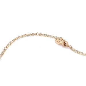 Cartier Triple Oval Link Necklace 18K Rose, White and Yellow Gold