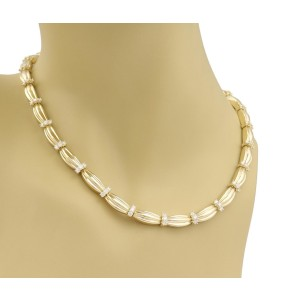 Tiffany & Co. 18K Yellow Gold with 4.00ct Diamond Signature II Necklace
