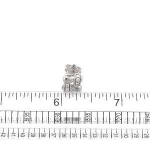 Tiffany & Co. Vannerie 18K White Gold with 0.18ct Diamond Stud Earrings
