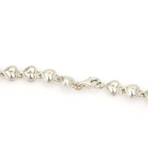 Tiffany & Co. Sterling Silver Padlock Heart Link Necklace
