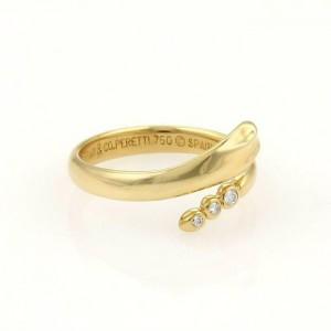Tiffany & Co. Peretti 18k Yellow Gold Snake Diamond Ring Size 5