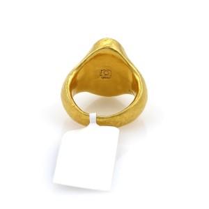 Gurhan Paradiso 24K Yellow Gold Opal, Fire Opal Ring Size 6.5