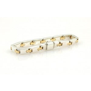 Tiffany & Co. Sterling 18K Yellow Gold, Sterling Silver Bracelet