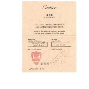 Cartier Platinum Platinum Wedding Ring Size 8.5