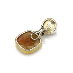Gurhan One 24K Yellow Gold, Sterling Silver Tiger's Eye, Jasper Earrings
