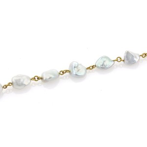 Gurhan Chains 24K Yellow Gold Cultured Pearl Necklace