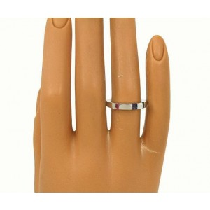 Asprey Multi 18K White Gold Tourmaline, Iolite, Topaz, Emerald Ring Size 6.25