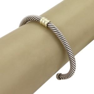 David Yurman Cable 14K Yellow Gold, Sterling Silver Bracelet