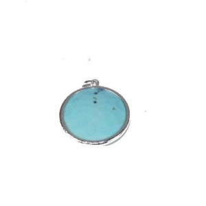 Ippolita 925 Sterling Silver with Turquoise Rock Candy Round Enhancer Pendant