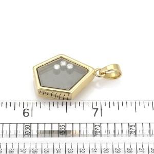 Chopard Happy 18K Yellow Gold Diamond Pendant