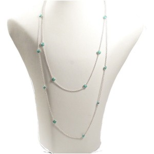 Ippolita Sterling Silver with Turquoise Rock Candy Station Necklace