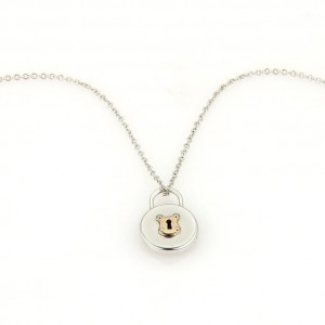 Tiffany & Co. 18K Rose Gold, Sterling Silver Pendant