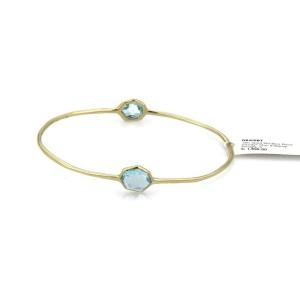 Ippolita Rock Candy 2 Tone Blue Topaz 18k Yellow Gold Bangle Rt: $1,695