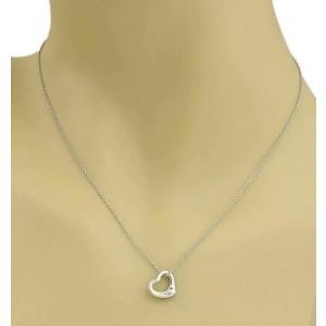 5b308eeaa Peretti Platinum Mini Open Heart Pendant Necklace   Tiffany & Co.   Buy at  TrueFacet