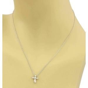 63de2d9a1 Elsa Peretti Mini Platinum Cross Necklace   Tiffany & Co.   Buy at TrueFacet