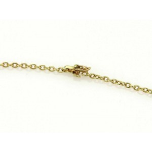 Estate Cartier 18k Two Tone Gold Triple Oval Swirl Charm Chain Necklace