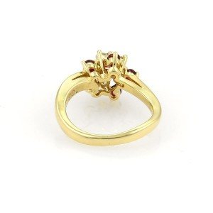 d85fb973d Tiffany & Co. Diamonds & Ruby 18k Yellow Gold Floral Cluster Ring ...
