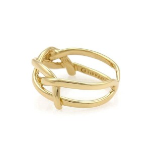 d1b43b559 Tiffany & Co. Vintage 18k Yellow Gold Infinity Band Ring Size - 4 ...