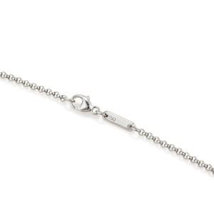 Chopard Happy Diamond Pink Sapphire 18k Gold Cross Pendant Necklace