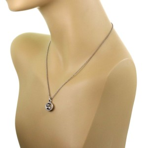 Chopard Happy Diamond 18k White Gold Round Diamond Bezel Pendant