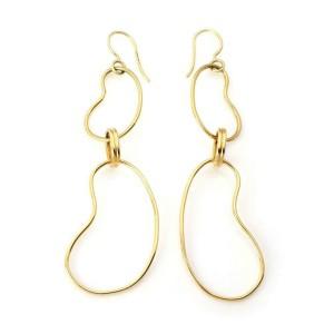 Ippolita 18k Yellow Gold Double Bean Shape Drop Dangle Earrings