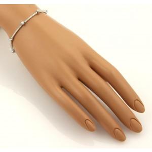 Tiffany & Co. Bezel Set Diamonds & Platinum Long Bar Bracelet