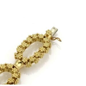 18k Yellow Gold Oval Rosette Link Chain Bracelet