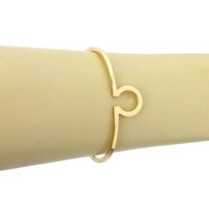 Omega 18k Yellow Gold Signature Cuff Band Bracelet