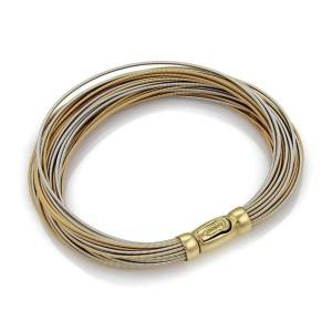 Marco Bicego Multi-Strand Fine Wire 18k Two Tone Gold Bracelet