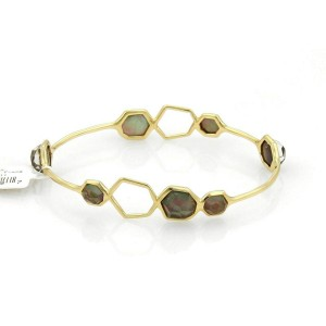 Ippolita Rock Candy Black Shell 7 Stone 18k Yellow Gold Bangle