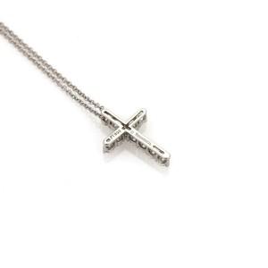 a61a33cbc Tiffany & Co. Diamond Platinum Small Cross Pendant Necklace ...