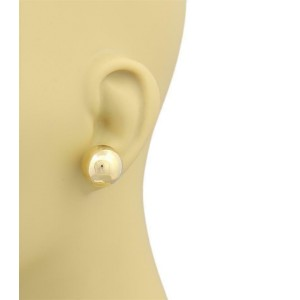14k Yellow Gold Large 16mm Ball Stud Earrings