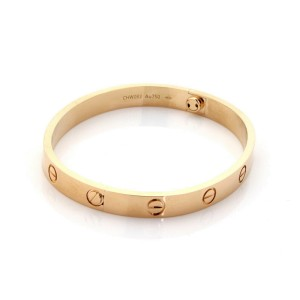 Cartier Love Bangle New Screw in 18k Rose Gold Size 17