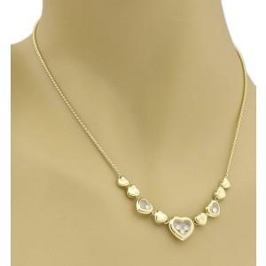 63e47c3ba14be Chopard Happy Diamond 18k Yellow Gold Multi Hearts Charm Necklace