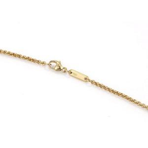 54f2fe00fd06c Chopard Happy Diamond 18k Yellow Gold Square Pendant & Chain Necklace