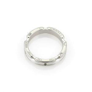 Chanel Ultra White Ceramic 18k White Gold Band Ring