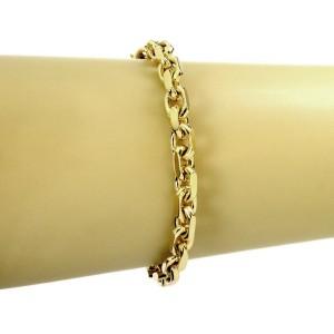 Tiffany & Co  18k Yellow Gold Fancy Oval Link Chain Bracelet