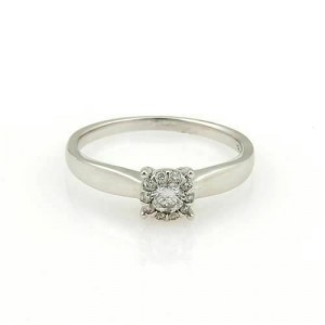 Bliss by Damiani Illusion 18k White Gold 0.25ct Diamond Ring