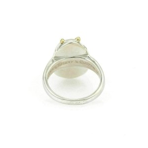 Tiffany & Co. 18k Yellow Gold Sterling Scarab Beetle Ring