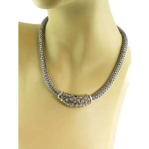 John Hardy Jaisalmer Sterling & 18k Gold Enhancer Weave Necklace