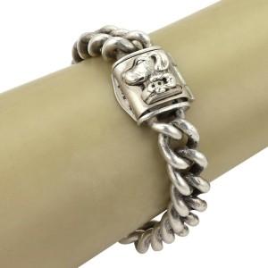 Kieselstein-Cord Hefty Sterling Curb Link Dog Clasp Bracelet 105 gr
