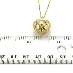 Tiffany & Co. 18k Yellow Gold Wire Wrap Puffed Heart Pendant Necklace