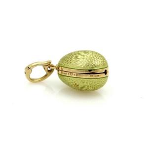 Faberge Victor Mayor Enamel 18k Yellow Gold Egg Charm-Opens Up