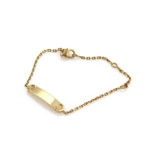 278e9a5f4761a Cartier C logo Baby ID Bar 18k Yellow Gold Bracelet