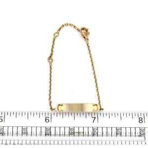 Cartier C logo Baby ID Bar 18k Yellow Gold Bracelet