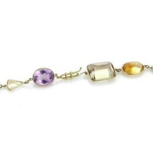Estate 515ct Multi-Color Gemstone 18k Yellow Gold Large Fancy Necklace